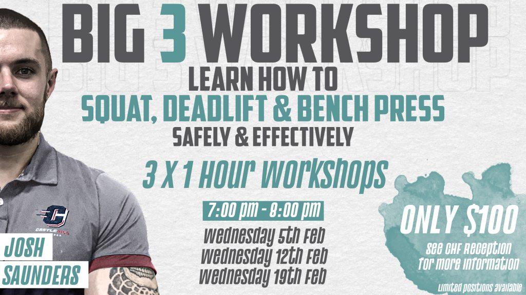 Big 3 Workshop